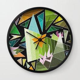 Mozaik / Zöld Wall Clock