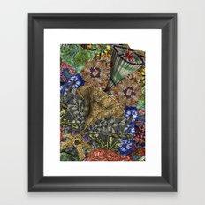 Psychedelic Botanical 4 Framed Art Print