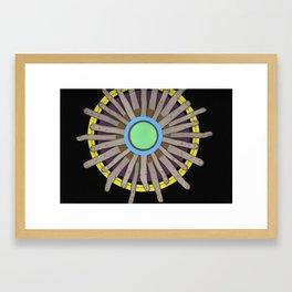 radial blame I Framed Art Print