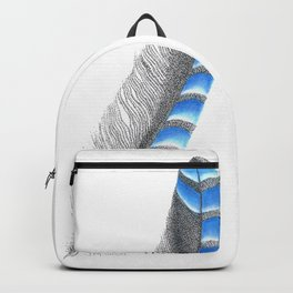 Blue Jay Feather Backpack