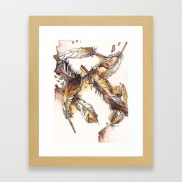 Chipewyan Feathers Framed Art Print