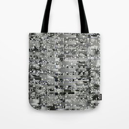Knowing Wink (P/D3 Glitch Collage Studies) Tote Bag