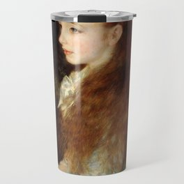 Pierre-Auguste Renoir - Portrait of Mademoiselle Irène Cahen d'Anvers Travel Mug