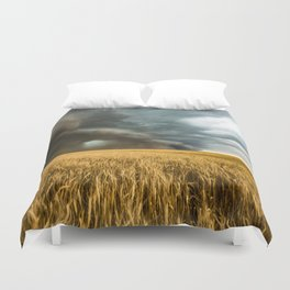 Earth Mover - Storm Advances Across Great Plains in Colorado Duvet Cover