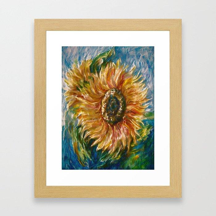 Sunflower Framed Art Print
