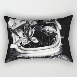 Astronauts and flowers Rectangular Pillow