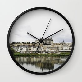 Amboise from the river Wall Clock
