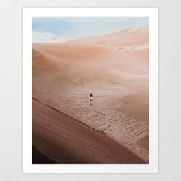 Moonscape musing in the Colorado Sand Dunes Art Print