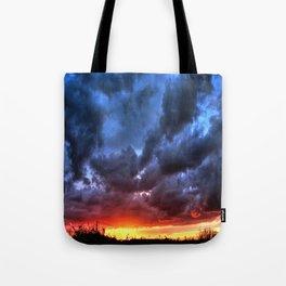 Angry Sunset Tote Bag