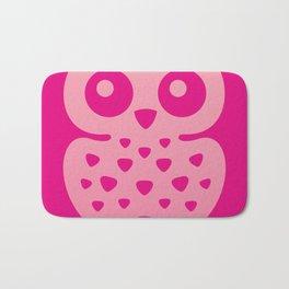 Cute Pink Baby Owl Bath Mat