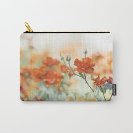 Orange Rose Flower Photography, Red Orange Roses, Burnt Orange Flowers Carry-All Pouch