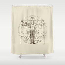 Vitruvian Alchemist Shower Curtain