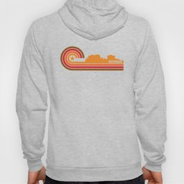 Retro Hutchinson Kansas Skyline Hoody