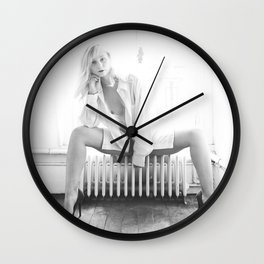 Elle savoure sa solitude // She savoured her solitude Wall Clock