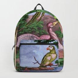 Birds of Paradise Portrait Painting by Jeanpaul Ferro Backpack