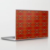 ashton irwin Laptop & iPad Skins featuring Influenza C Tapestry by Alhan Irwin by Microbioart