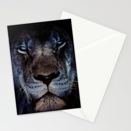 Blue-Gold Lion Stationery Cards