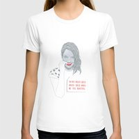 emma stone T-shirts featuring Illustration Emma Stone 'Grilled Cheese' by Katie Munro