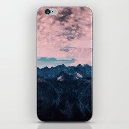 Pastel mountain mood iPhone Skin