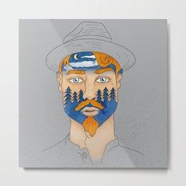 Forest Man Metal Print