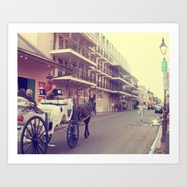 Bourbon Street Carriage Art Print