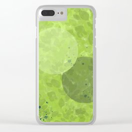 Just Breathe | Green Foliage Clear iPhone Case