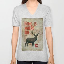 home is where the h(e)art is Unisex V-Neck
