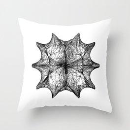 The Calabi-Yau Manifold - White Throw Pillow