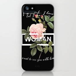 Harry Styles Woman graphic artwork iPhone Case