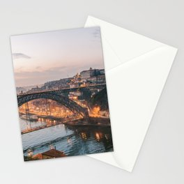 Dom Luis Bridge by Sunset | Portugal Travel | Porto Architecture Cityscape Stationery Cards