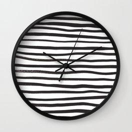 brushstroke stripes Wall Clock