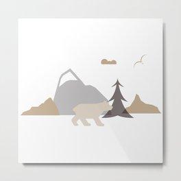Bear Scene Metal Print