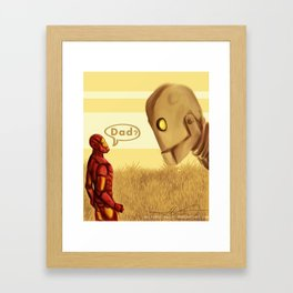 Happy Fathers Day Framed Art Print