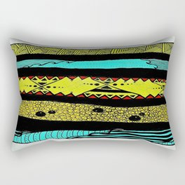 Sideways abstract  Rectangular Pillow