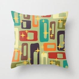 Retro Mid Century Modern Abstract Pattern 225 Throw Pillow