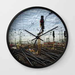 Rail Wall Clock