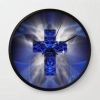 cross Wall Clocks featuring Cross by Mr D's Abstract Adventures/DLP Photograp