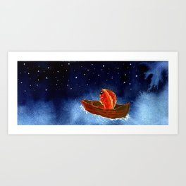 Goldfish at the End of the World Art Print