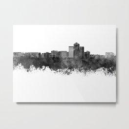 Tucson skyline in black watercolor Metal Print