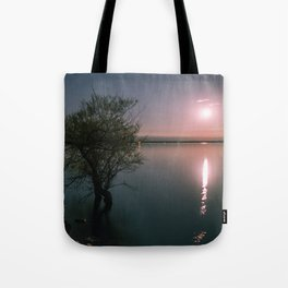 Moonrise over Sandbanks Tote Bag