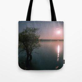 Moonrise over Sandbanks Tote Bag