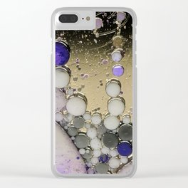 Silver lining bubbles Clear iPhone Case