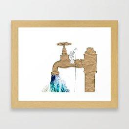 Paper Faucet Framed Art Print