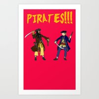 pirates Art Prints featuring Pirates!!! by Michael Keene