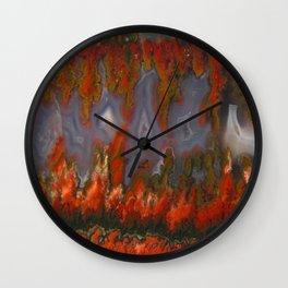 Christmas Tree Plume Agate Wall Clock