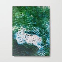 Hummingbird Abstract Painting Metal Print