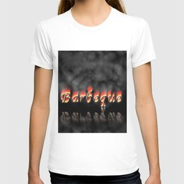 Barbeque Text On Fire T-shirt