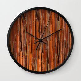 Copper Paint Stripe Wall Clock