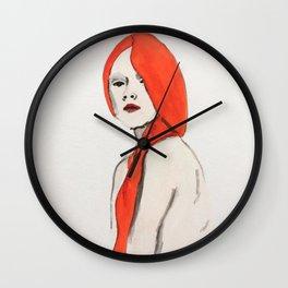 Thinking woman Wall Clock