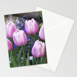 Spring gathering of pink tulips Stationery Cards